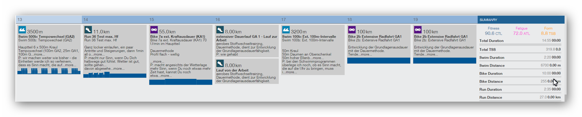 Ironman Vorbereitung Trainingsplan Triathlon Coaching Frankfurt Trainingpeaks
