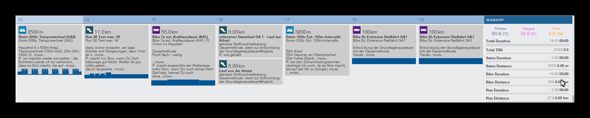 Ironman Vorbereitung Trainingsplan Triathlon Coaching Frankfurt Trainingpeaks