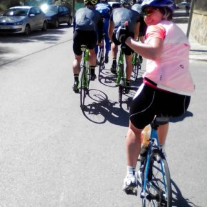 Diana hinten rechts, Tony Martin vorn links, 3 Tage nach Paris-Roubaix