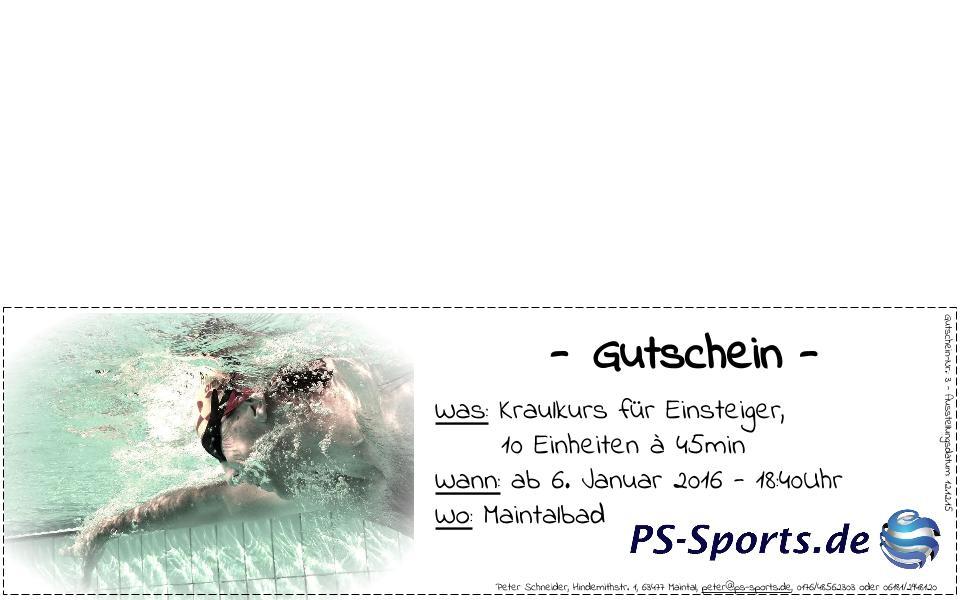 Gutscheine von PS-Sports.de ab sofort erhältlich