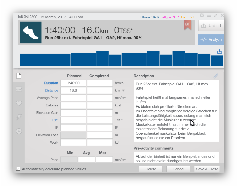 Triathlontraining mit Trainingpeaks und PS-Sports.de: Killerfeatures!