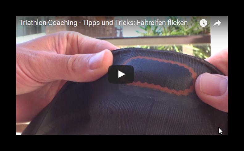 Triathlon Coaching – Tipps und Tricks: Faltreifen flicken